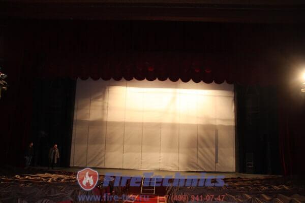 Противопожарная штора на сцене Большого театра