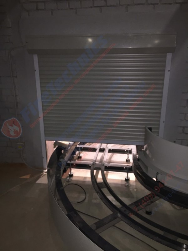 Пример решения по защите конвейерных проемов при помощи противопожарных систем FireTechnics для Аэропорта Пермь
